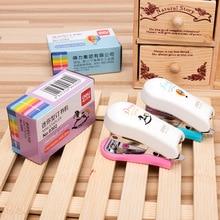 Cute Little Mini Stapler Set Escolar Papelaria School Office Supply Student Prize Birthday Gift  Korean Stationery