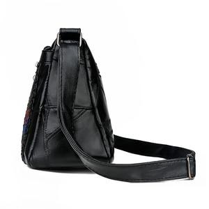 Image 4 - Frauen Aus Echtem Leder Taschen Mode blume Schulter Taschen Für Damen Umhängetaschen Luxus Designer Weiblichen Handtasche 2020 Neue