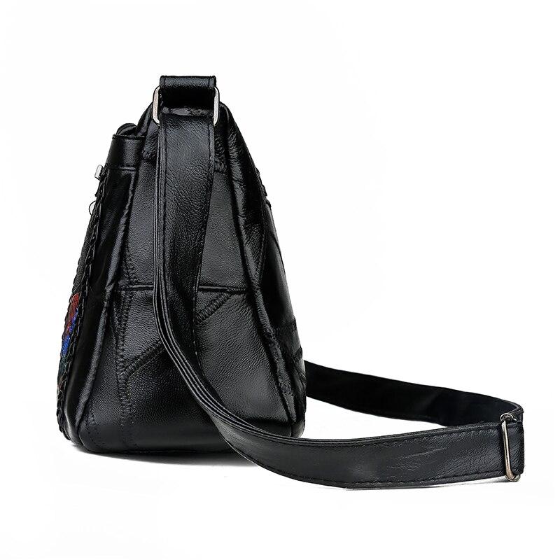 Image 4 - Women Genuine Leather Bags Fashion flower Shoulder Bags For  Ladies Crossbody Bags Luxury Designer Female Handbag 2020 NewShoulder  Bags