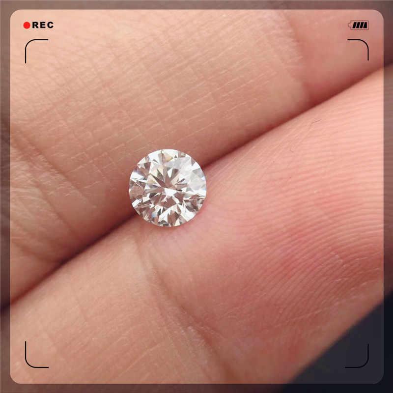 0.8ct D צבע רופף Moissanite 6mm בחיתוך עגול מבריק VVS1 כיתה תכשיטי Loose אבן באיכות גבוהה טבעת DIY חומר