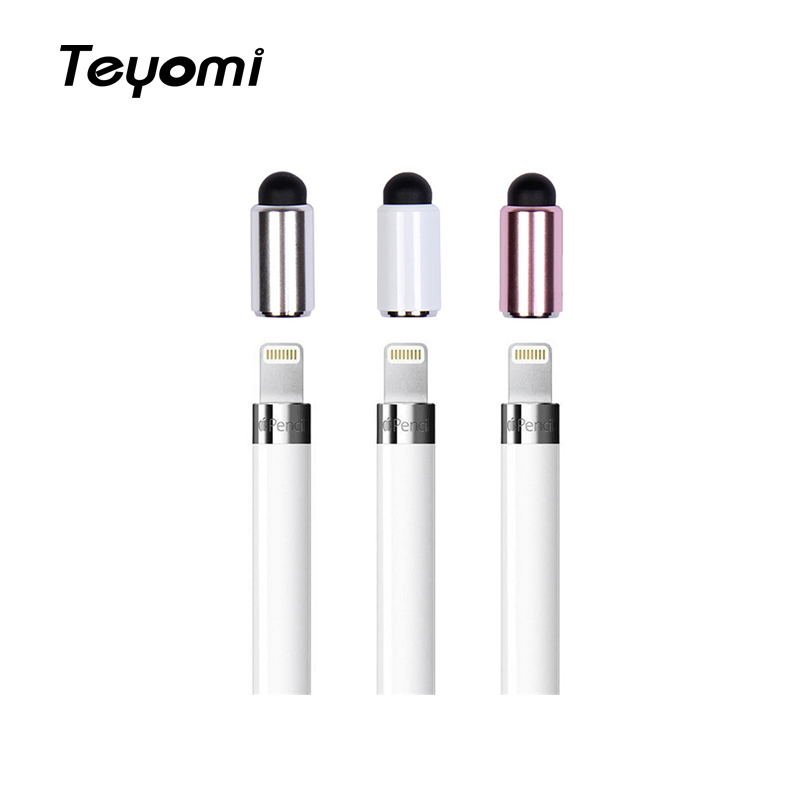Teyomi For Apple Pencil Cap Magnetic Tip For Ipad Pencil Stylus Pen For IPad Pro 10.5 9.712.9 Pen Cap Accessory Smart Pen