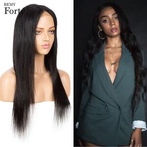 Remy Forte, 30 дюймов, парики из человеческих волос, 4x4, парики на шнуровке для женщин, Боб, кружевные передние парики, Бразильские короткие прямые ...