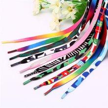 8mm flat impresso cadarços colorido arco-íris sapato atacadores moda shoestring substituição para tênis