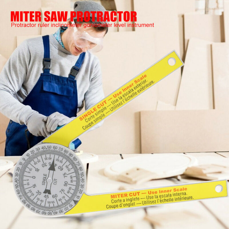 505p-7 Calibration Miter Saw Protractor Finder Angle Finder Miter Gauge Goniometer Angle Finder Arm Measuring Ruler