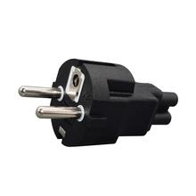 Стандарт ЕС, 4,8 мм, внешняя мощность, стандартная европейская вилка для адаптера IEC320 C5 в виде клевера
