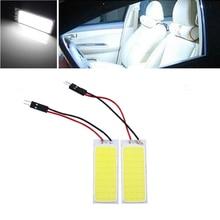 2 шт./лот COB 36Led панель белый светодиод авто интерьер стояночный светильник для чтения Карта Лампа Купол фестон DC 12 В