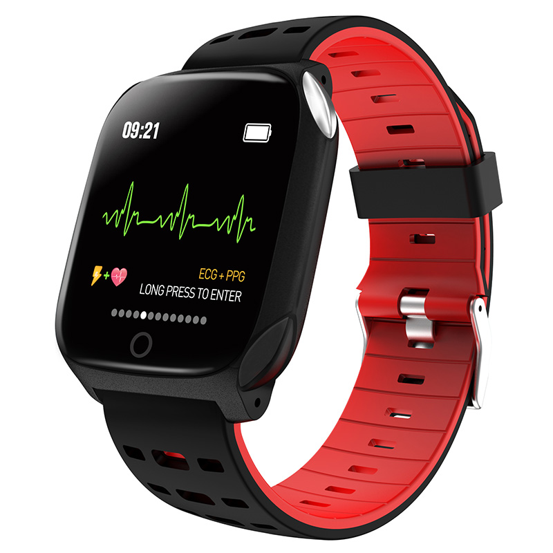 €28.35 51% OFF|F16 Smart Horloge Bloeddruk Bloed zuurstof Hartslagmeter PPG ECG Activiteit Fitness Tracker Horloge Wearable Gezondheid SmartWatch-in Smart watches van Consumentenelektronica op AliExpress