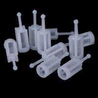 10pcs Plastic Gravity Type Spray Gun Spray Filter Pot Diameter 11mm length 36mm