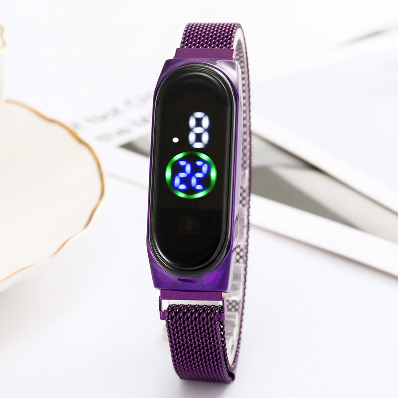 Luxury Ladies Watch Women Touch Screen LED Watches New Fashion Women Magnetic Electronic Clock Digital Wristwatches Feminino 3