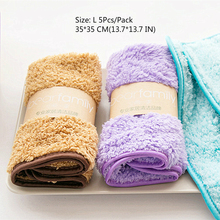 Hot 5PCS Home microfiber towels for kitchen Absorbent thicker cloth cleaning Micro fiber best use towel soft