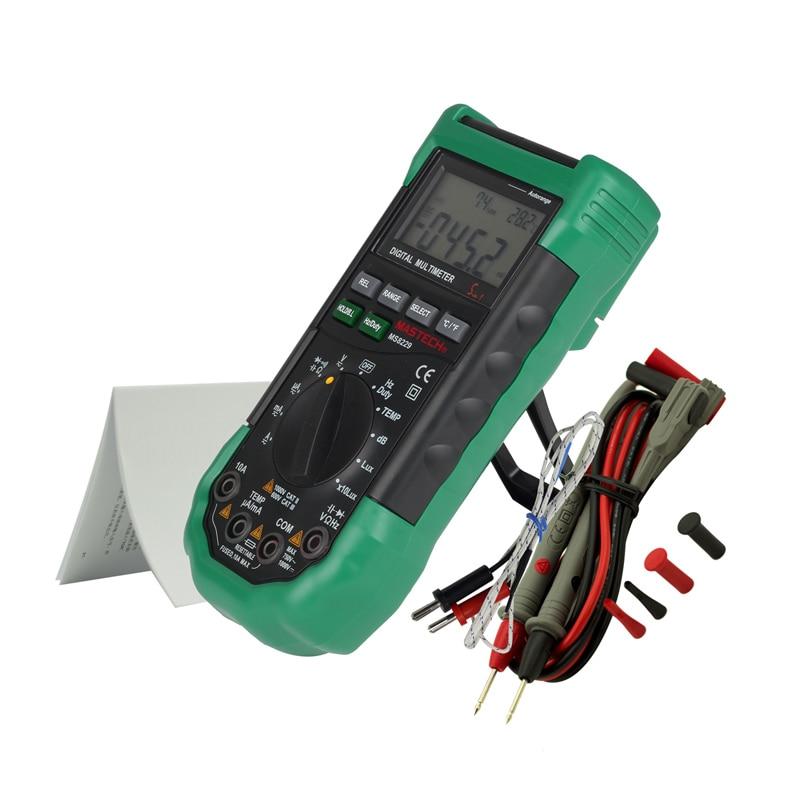 Humidity  Lux Meter Mastech In1 Multifunction Temperature Sound Tester MS8229 Auto Digital Level Range Multimeter 5 Original