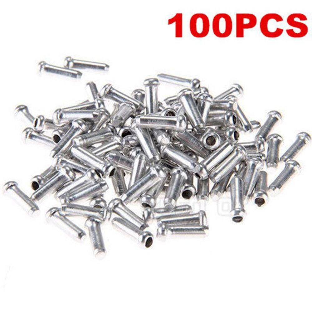 Hot Sale 100 X Bicycle Bike Shifter Brake Gear Inner Cable Tips Ends Caps Crimps Ferrules Bicycle Accessories High Quality