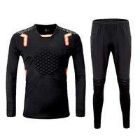 New Profession Adult Kids Soccer Goalkeeper Sets Survetement Football Jerseys Suit Sponge Protector Football Goalkeeper Training