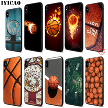 IYICAO Basketball Art Shoot Soft Black Silicone Case for iPhone 11 Pro Xr Xs Max X or 10 8 7 6 6S Plus 5 5S SE стоимость