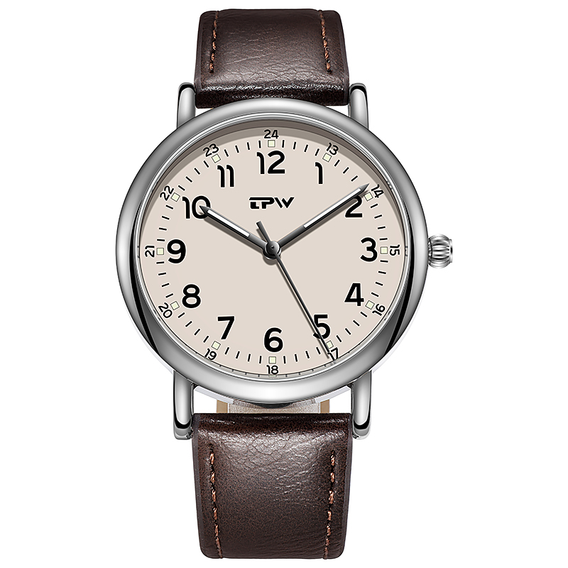 Classic Mens Quartz Watch PU Leather Strap Luxury Casual Business Japan Movement Weekend Dress