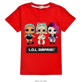 Koszulka dziecięca LOL dziecięca dla dziewczynki chłopcy dziewczęta dziecięca koszulka dziecięca dziecięca koszulka dziecięca koszulka imprezowa topy odzież krótka koszulka tanie i dobre opinie L O L SURPRISE! 7-12y 12 + y 3-6y Aktywny CN (pochodzenie) COTTON Kobiet Pasuje prawda na wymiar weź swój normalny rozmiar