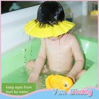 Kinder Neue Wasserdichte Bade Kappe Shampoo Dusche Schützen Hut Weiche Einstellbare Visier Hut Home Bad Dusche Shampoo-Haube    -