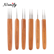 Nunify Professional 0.5Mm 0.75Mm Wooden Dreadlock Needles, 3Pcs Dreadlock Crochet