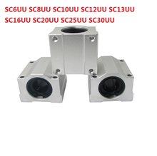 SC6UU SC8UU SC10UU SC12UU SC13UU SC16UU SC20UU SC25UU SC30UU unidade caso linear motion bloco deslizante linear CNC