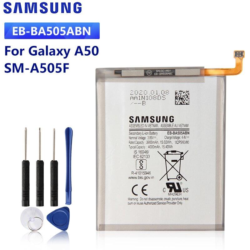 SAMSUNG orijinal yedek pil EB-BA505ABN Samsung Galaxy A50 A505F SM-A505F A30s A30 A20 SM-A205FN A202F 4000mAh