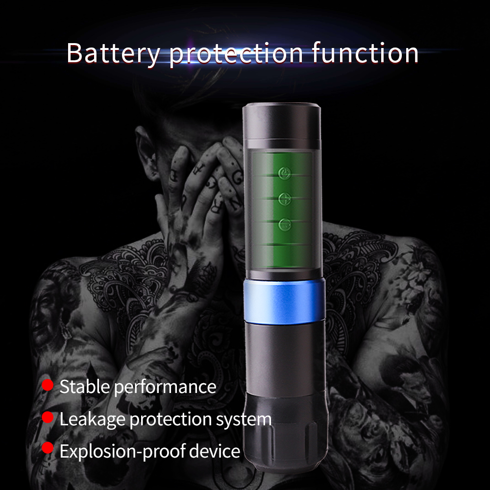 YILONG Original Wireless Battery Pen RCA Tattoo Machine Portable Strong Japan Motor Stable  Professional Tattoo Equipment