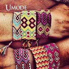 UMODE Brazil Boho Braided Bracelets for Women Men Friendship Bohemian Handweave Cotton Rope Cheap Charm Pulseras Dropship PB0508