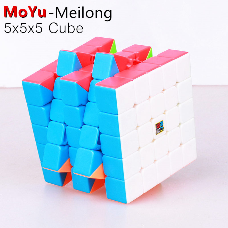 MoYu Cubing Classroom Meilong 5x5x5 Magic Speed Cube Stickerless Professional Puzzle Cubes Educational Toys For Children