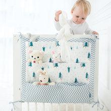 Подвесная сумка для детской кроватки брендовый хлопковый органайзер