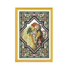 Набор для вышивки крестиком в розовом саду 11ct 14ct
