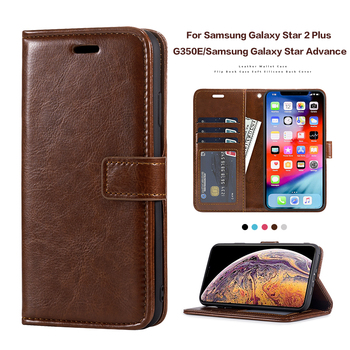Leather Flip Case For Samsung Galaxy Star 2 Plus G350E Silicone Case Wallet Cover For Samsung Galaxy Star Advance Business Case image