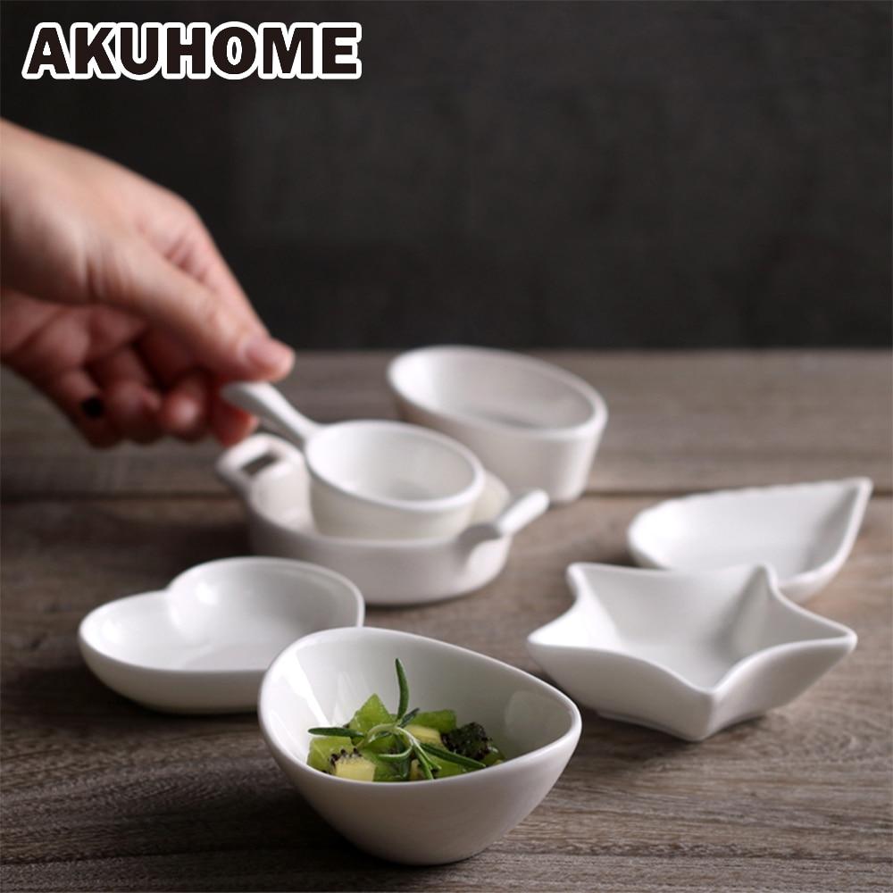 Creative Japanese Dishes Ceramic Plate Household Dip Dish Cute Dish Soy Sauce Seasoning Dish