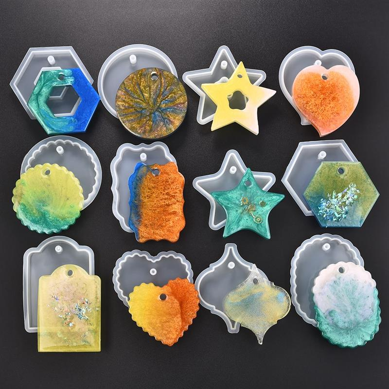 Pendant Silicone Mold Resin Jewelry Silicone Mould UV Pressed Dried Flower Epoxy Resin Molds Jewelry Making Tools