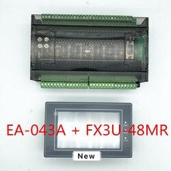 EA-043A HMI Сенсорный экран 4,3 дюймов + FX3U серия ПЛК промышленная плата управления с DB9 линия связи