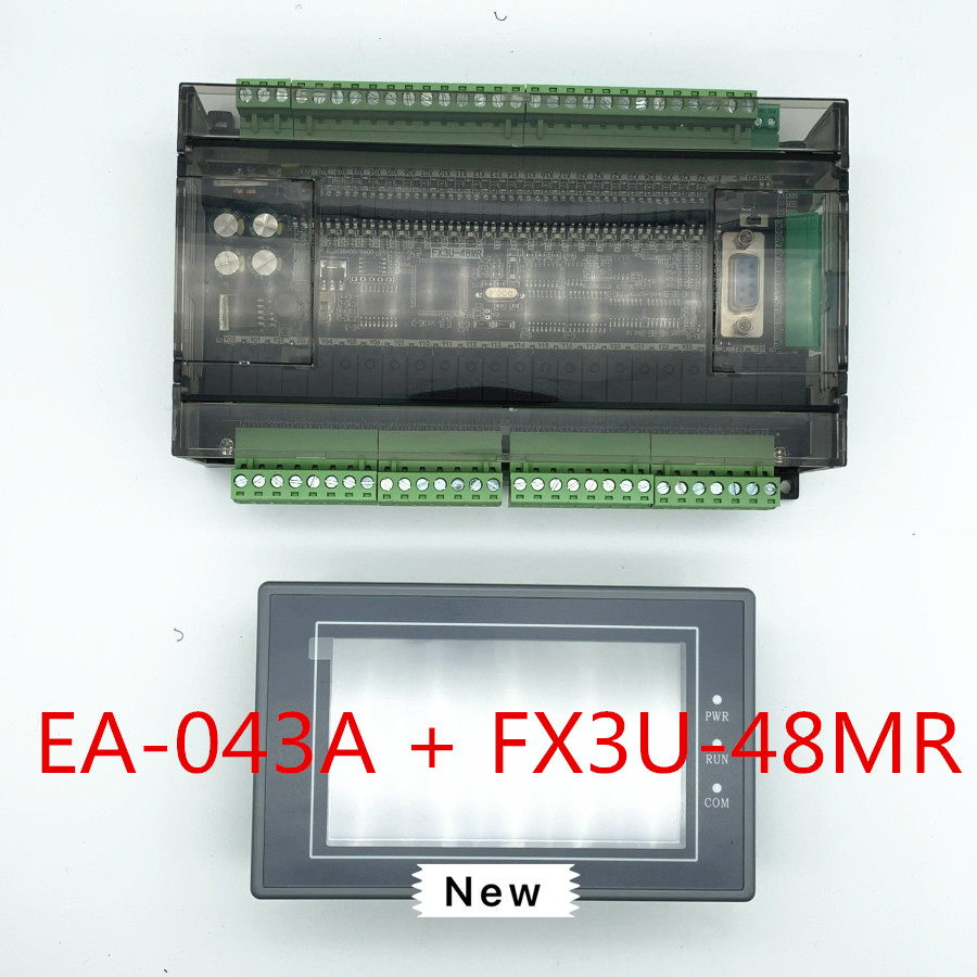 EA-043A HMI Touch Screen 4.3 inch + FX3U series PLC industrial control board with DB9 Communication line