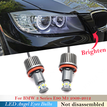 Light 120W pair Angel eyes bulb LED Headlight For BMW 1 3 5 X Z Series E90 Sedan LCI M3 89 E70 E93 E 87 E88 E71 E81 E60 E82 Car image