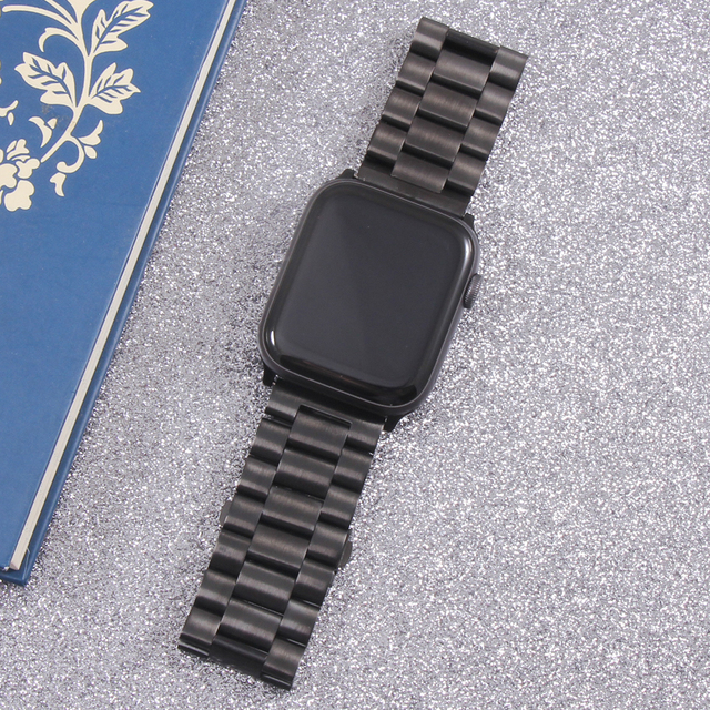 Band For Apple Watch6 5 4 3 2 1 42mm 38mm 40MM 44MM Metal Stainless Steel Watchband Bracelet Strap for iWatch Series Accessories 6