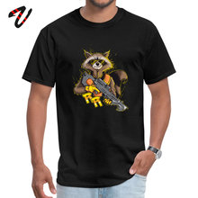 Raccoon Agent Printed T Shirt Guardians of the Galaxy Movie Tee For Men ostern Day Fitness Casual Cotton Clothes Camisa