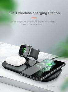 Image 2 - 15 ワット 3 で 1 充電アップル腕時計 5 4 3 airpods 高速チーワイヤレス充電スタンド iphone 11 xs xr × 8 サムスン S10 S9 10 ワット