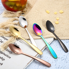 Tea-Spoon Dinnerware Stainless-Steel Dessert-Tools Coffee Scoop Gold Small for 1-Pc Snack