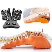 Fitness voltar estiramento massageador equipamentos casa vértebra apoio lombar relaxamento coluna coluna alívio da dor exercício coluna vertebral