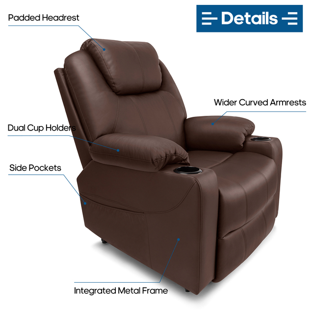 Leather Massage Chair w/ Power Lift  4