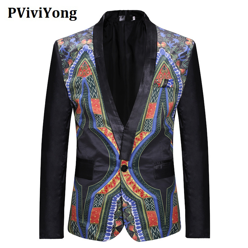 PViviYong Brand 2020 Koera High Quality Men's Top Suit Jacket Personality Party Slim Fit Suit Men Blazer 78229
