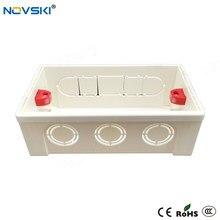 NOVSKI 146 Type boîte arrière de montage boîte de jonction Cassette interne réglable pour 146*86mm interrupteur mural et prise, blanc