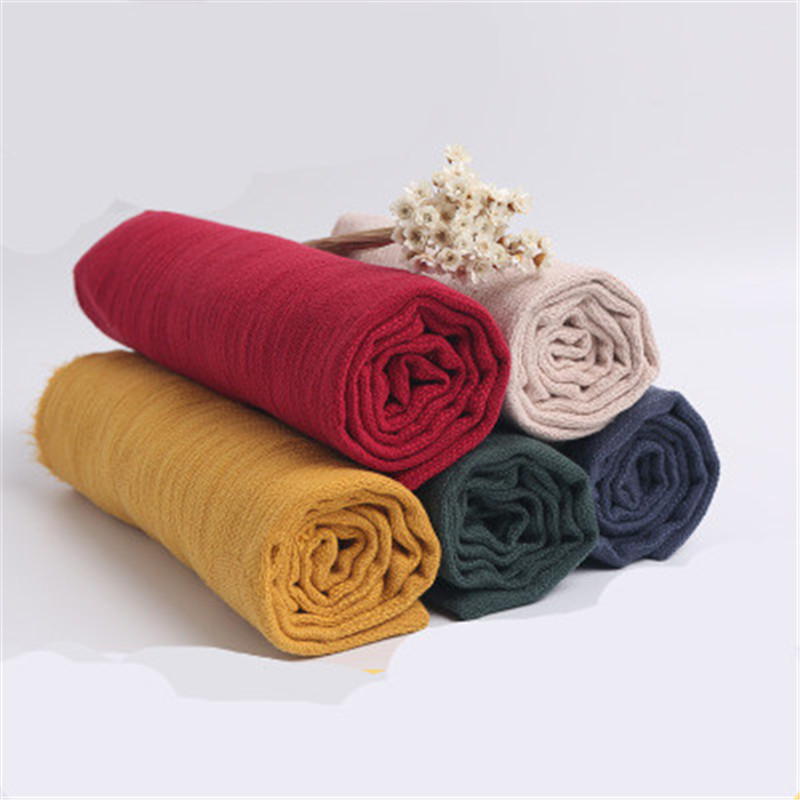 New Autumn And Winter Cotton And Linen Solid Color Fabric Casual Wear Dress Clothing Pillowcase Sheets Tablecloth Fabric