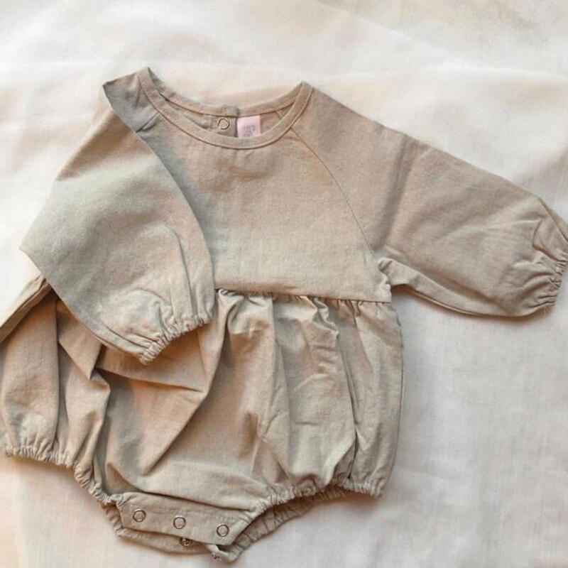 2020 New Korean Japan Style Spring Baby Boys Girl Bodysuit Toddler Baby Clothing Newborn Infant Cotton Long Sleeve Jumpsuit