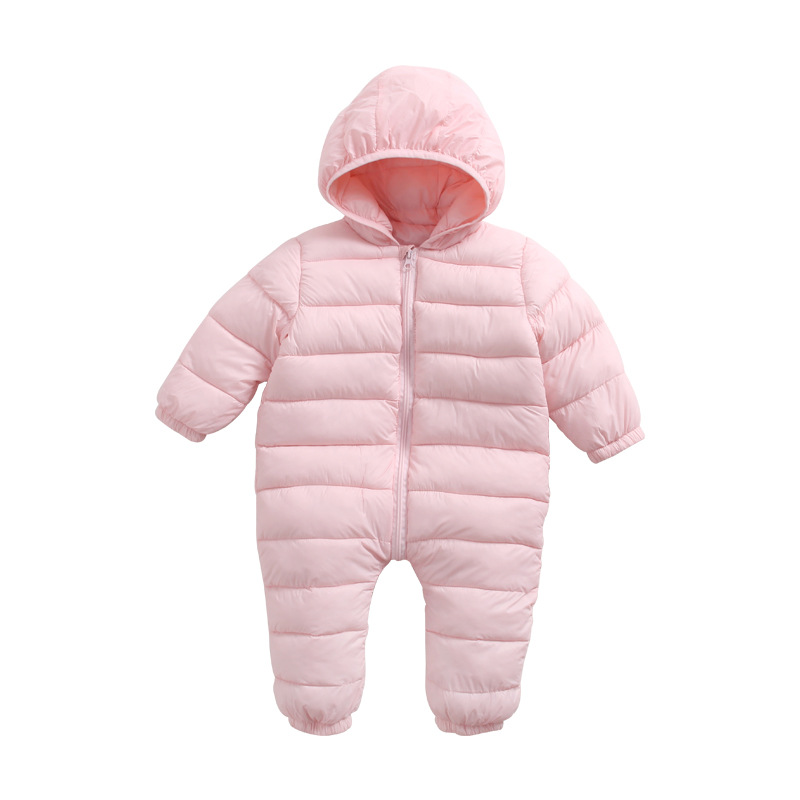 Warm Down Baby Rompers Thick Cotton Hooded Climbing Clothes Girl Boys Suit Kids Winter Outdoor Jumpsuit Snow Wear Baby Clothes