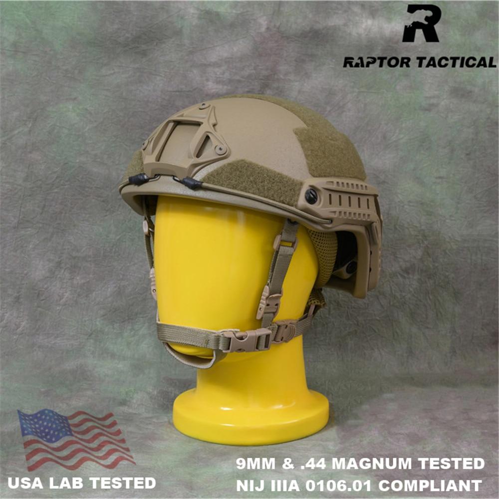 Raptor Тактический Быстрый HDPE NIJ IIIA 3A 0106,01 ISO подлинный высокопрочный баллистический шлем XP Cut пуленепробиваемый шлем с циферблатом