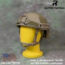 Raptor taktik hızlı UHMWPE NIJ IIIA 3A 0106.01 ISO hakiki yüksek kesim balistik kask XP kesim kurşun geçirmez kask Dial Liner
