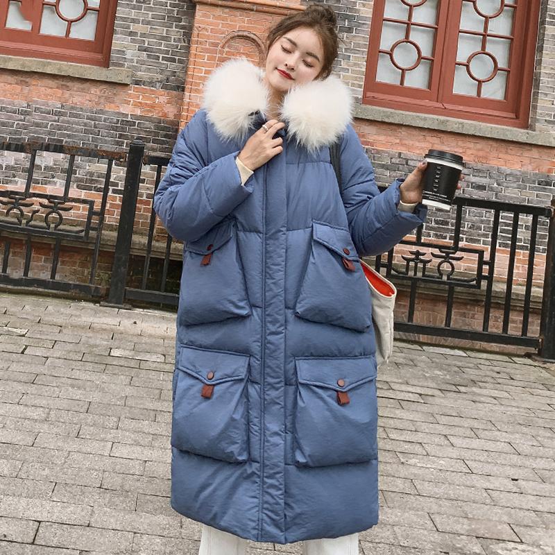 2019 New Arrival Winter Jacket Women Korean Style Oversize Loose Female Coat Hooded With Fur Warm Thicken Ladies   Parka