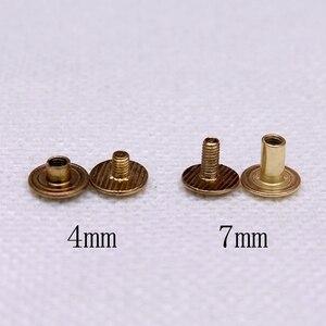 Image 2 - 100pcs Colorful Metal Screws for Spiral Binder Loose Leaf  Clip 5Colors Silver/Bronze/Red bronze/Grey/Golden 4mm/7mm/10mm sizes